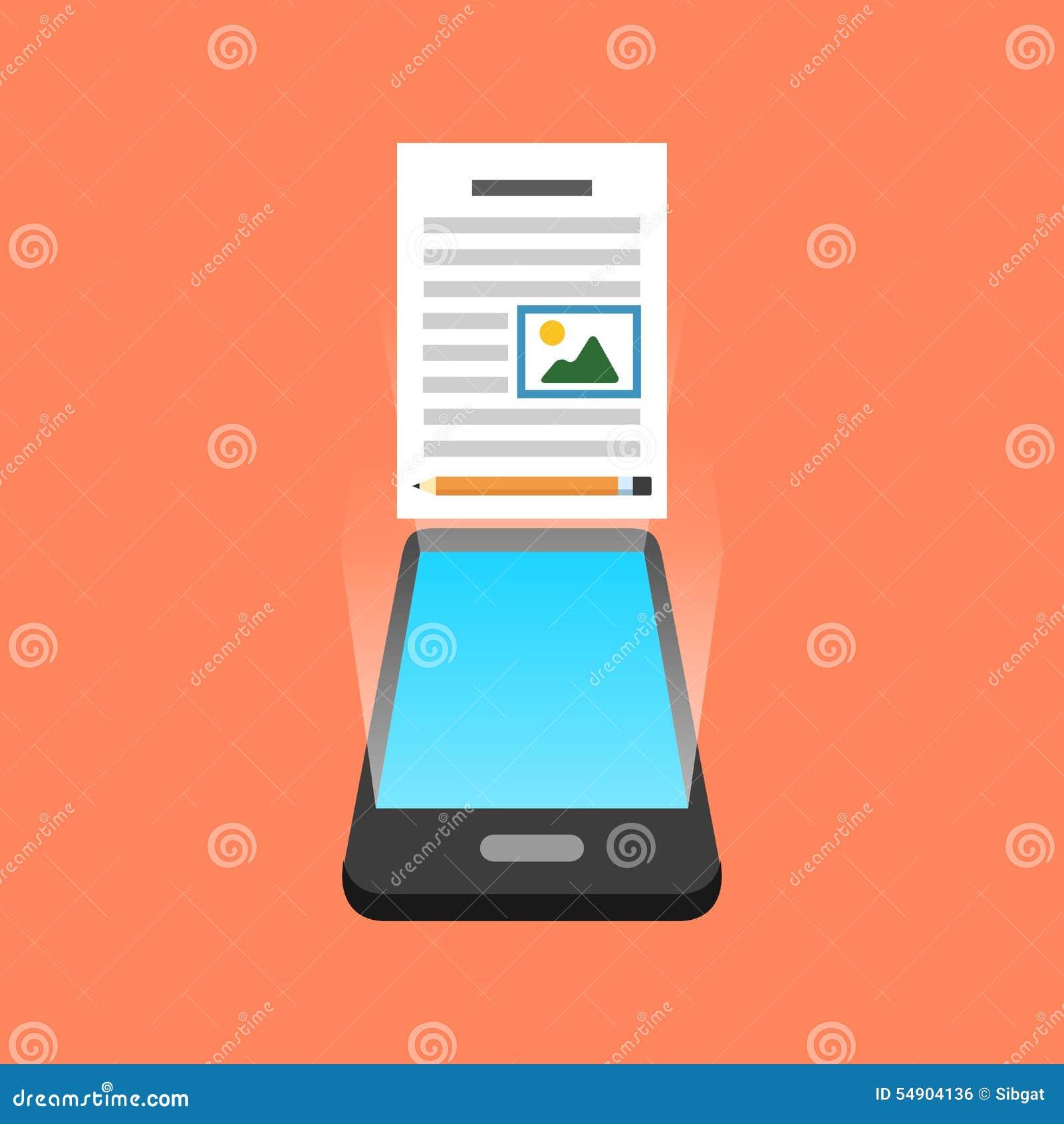 Smartphone blogging concept. Isometric design.
