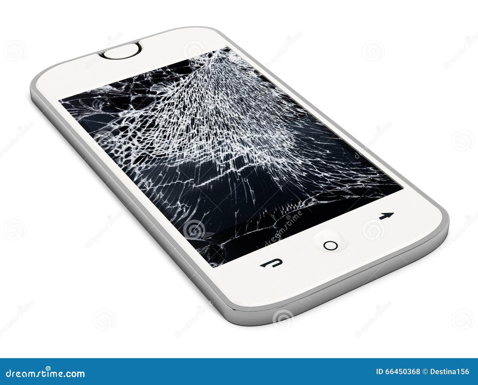 Smartphone With Broken Screen Stock Illustration
