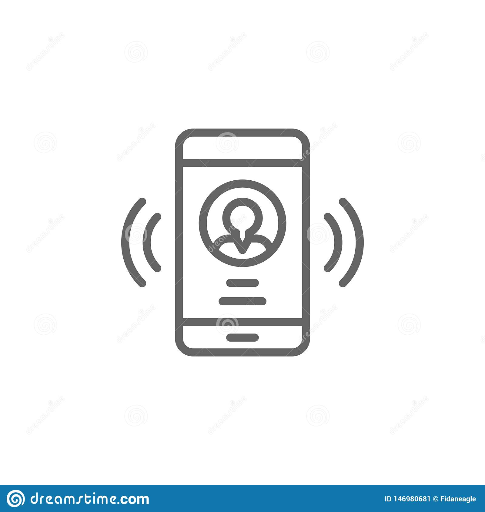 Smartphone call man outline icon. Elements of Business illustration line icon. Signs and symbols can be used for web, logo, mobile