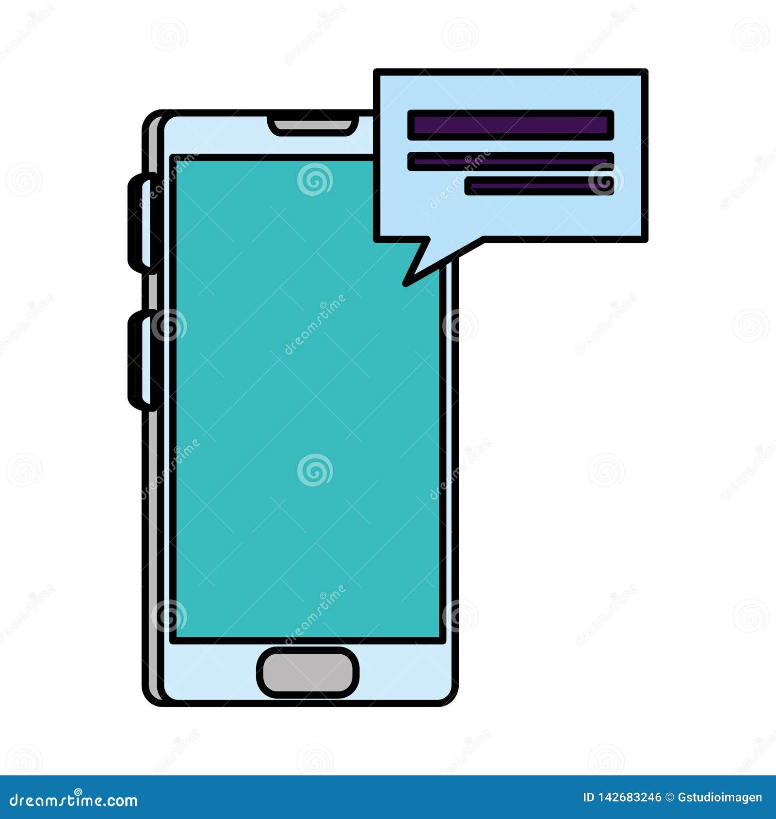 Smartphone con il fumetto