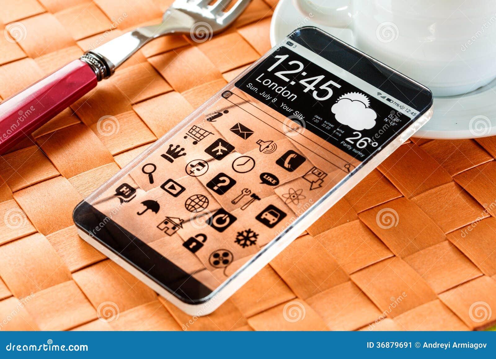 Download Smartphone Con Un'esposizione Trasparente. Illustrazione di Stock - Illustrazione di calcolatore, disegno: 36879691