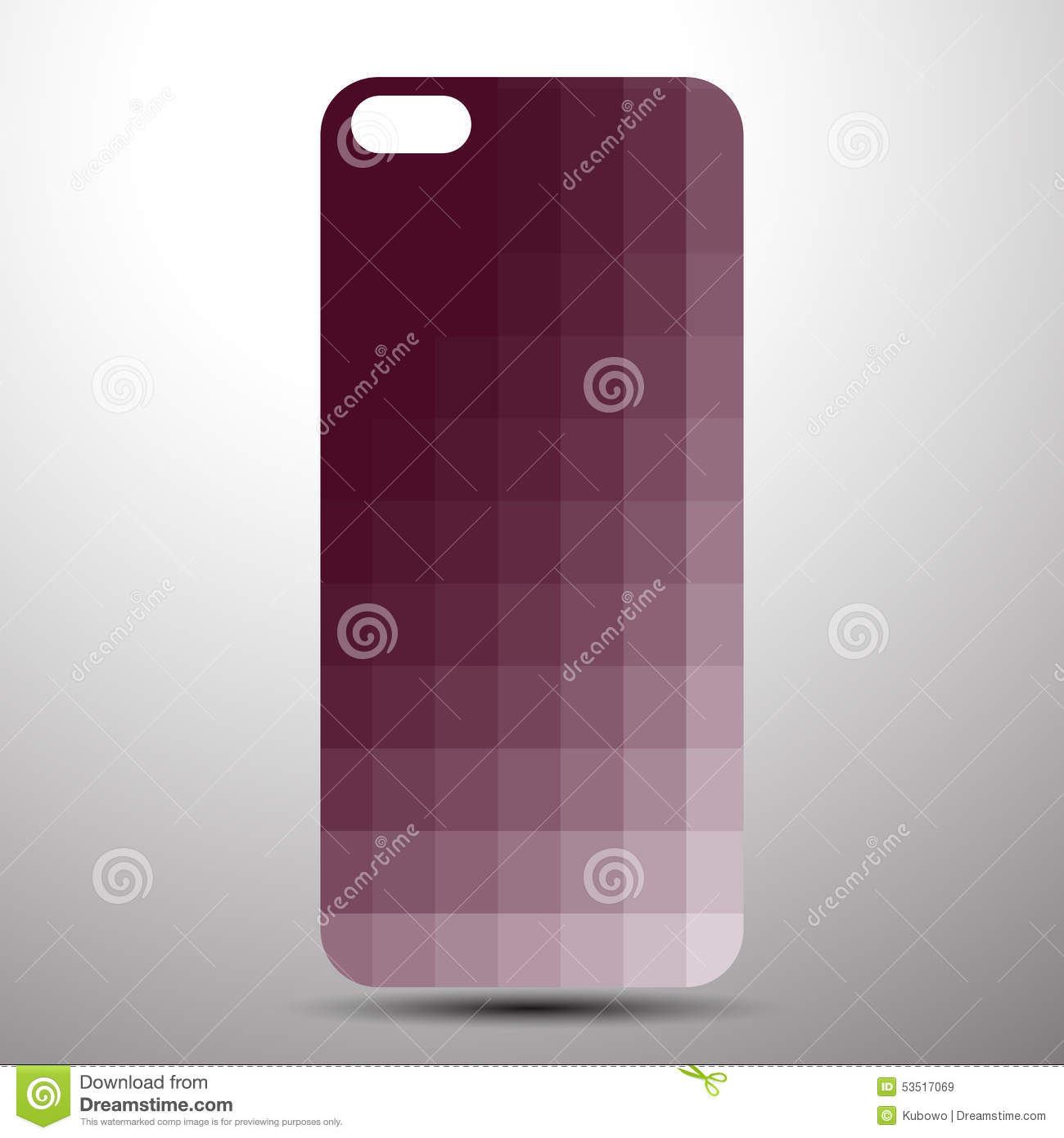 Smartphone Cover Back Wallpaper Stock Vector Illustration Of Decoration Endless 53517069