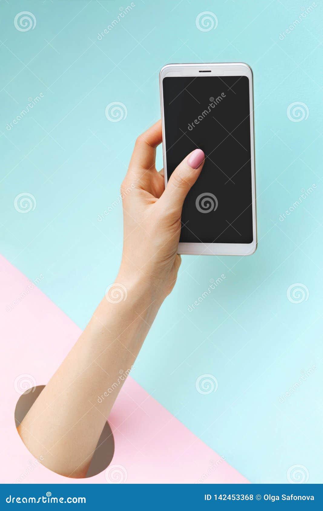Smartphone de fixation de main
