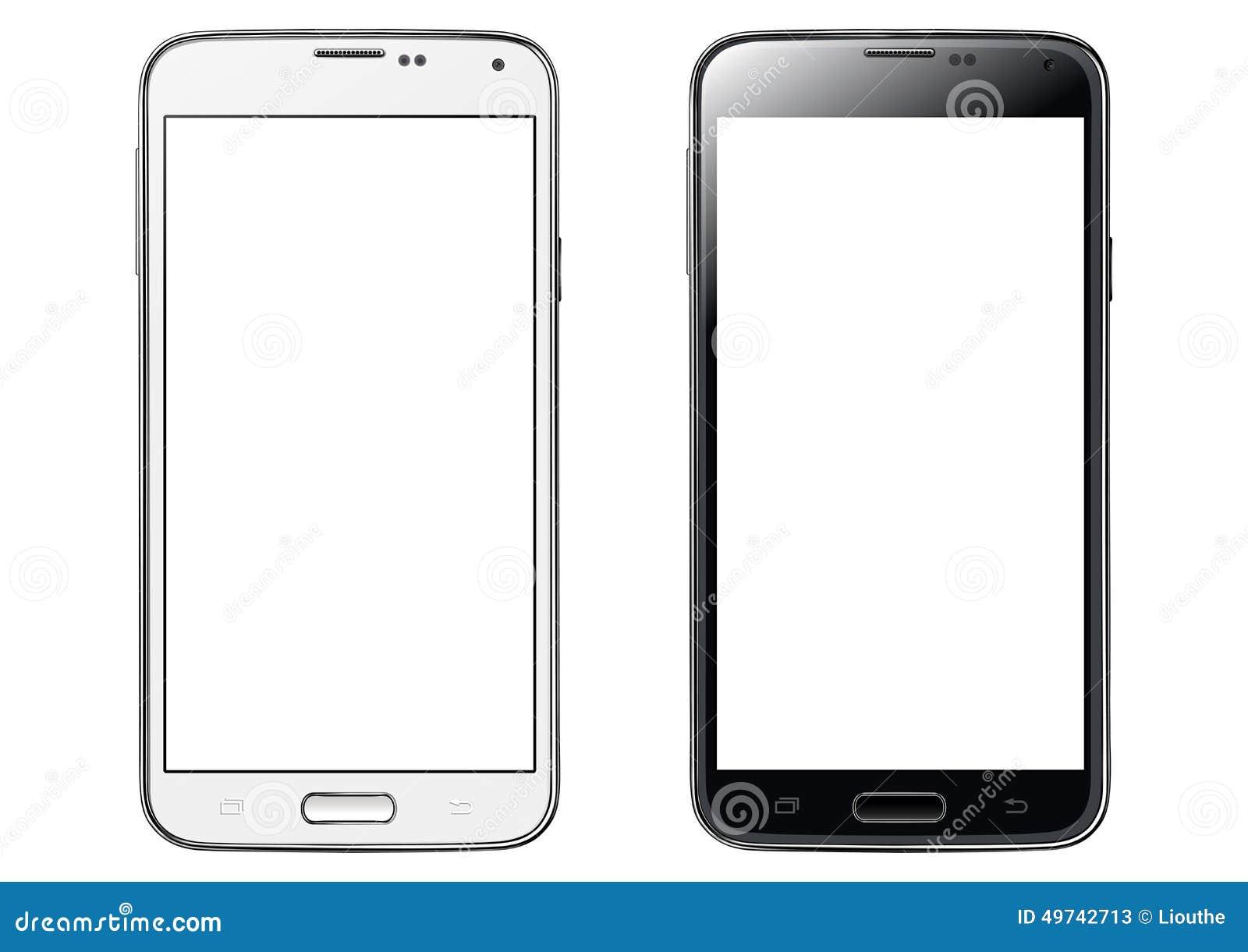 Smartphone de la pantalla táctil aislado