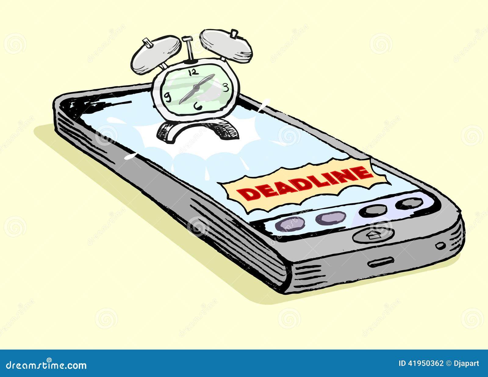 Smartphone Deadline Notification Stock Vector - Illustration