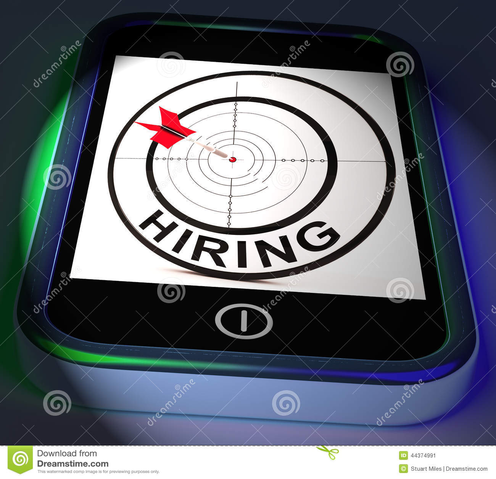 Smartphone di noleggio visualizza l assunzione online per Job Position