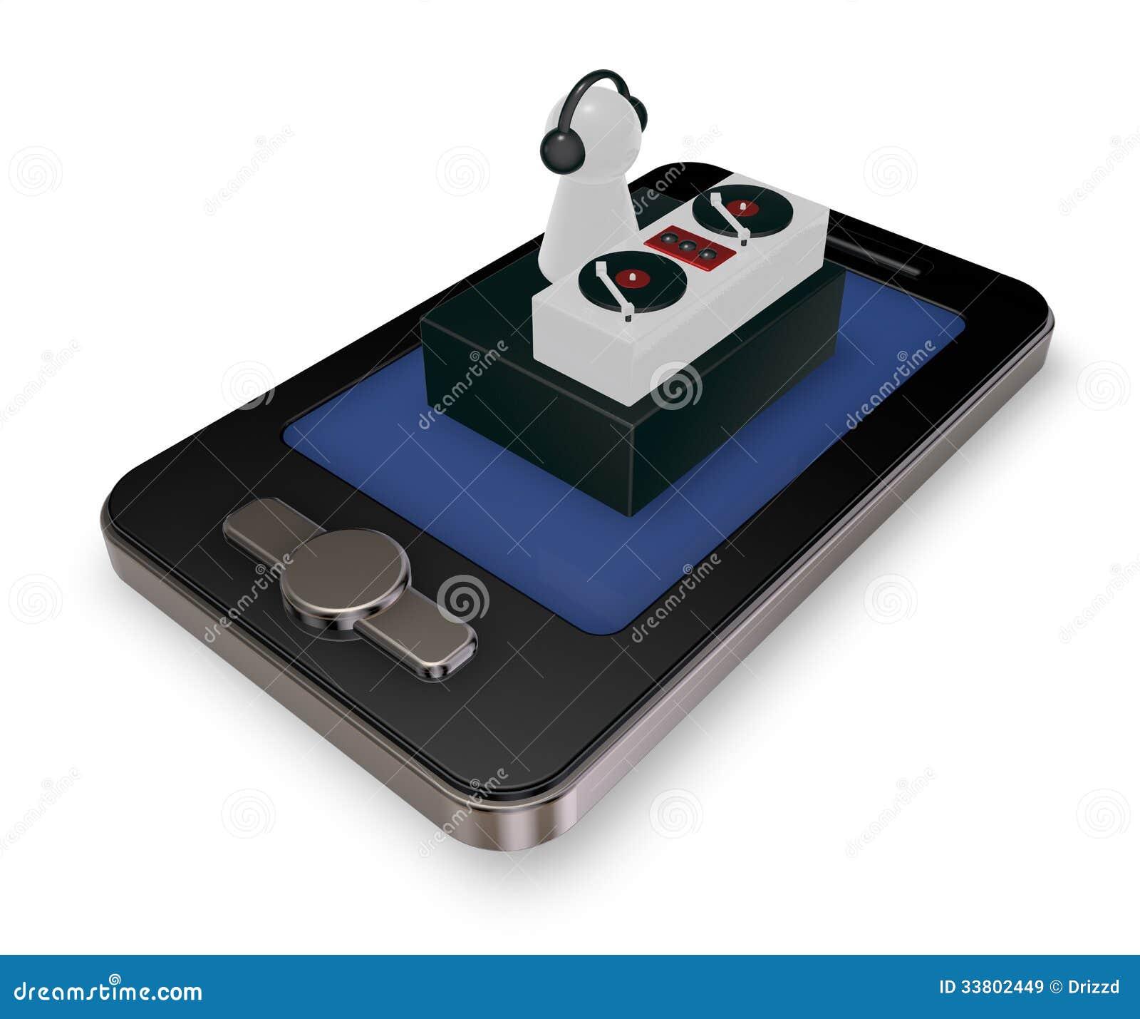 Smartphone dj stock illustration  Illustration of music - 33802449