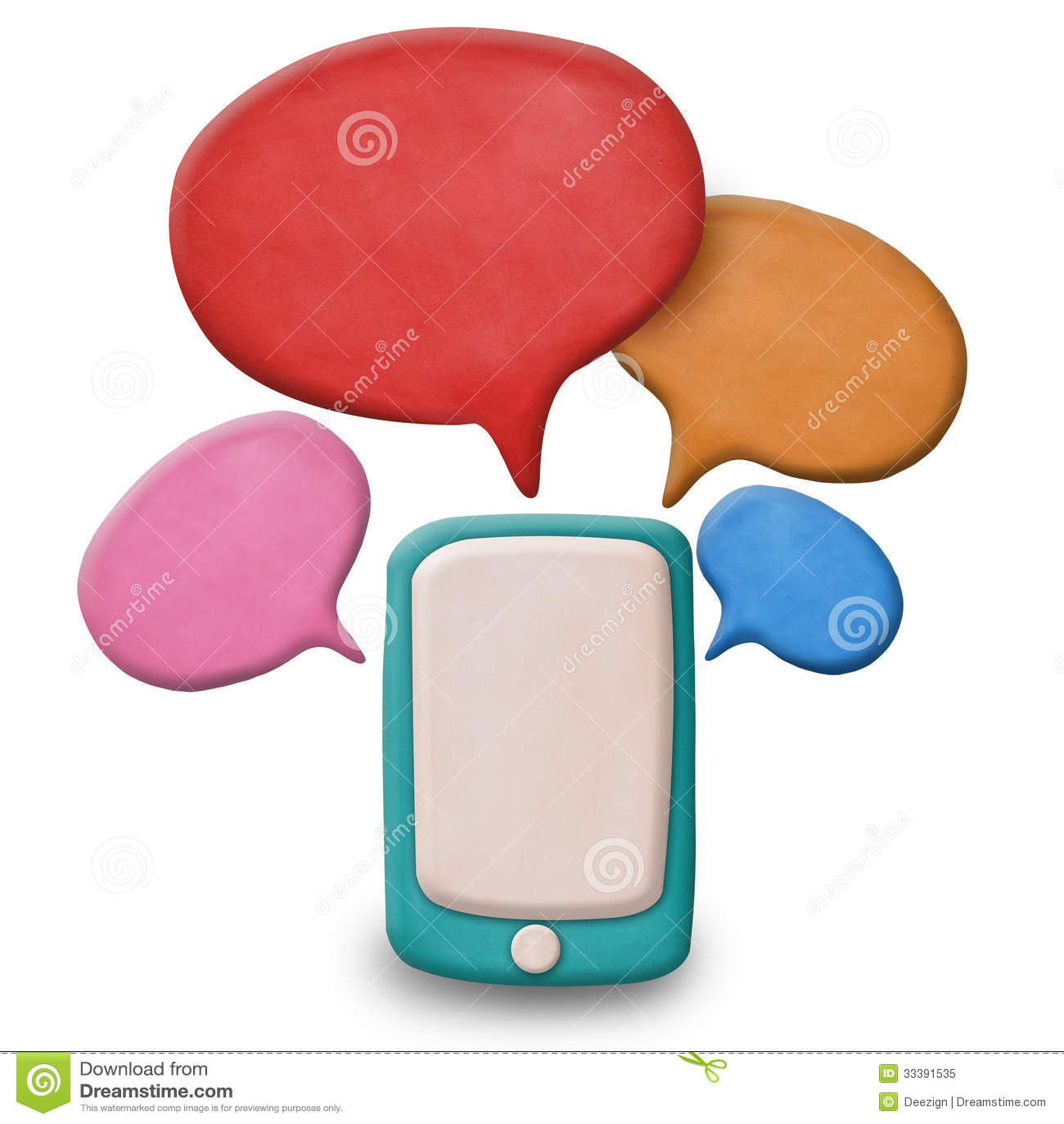 Smartphone do écran sensível da massa de modelar com discurso