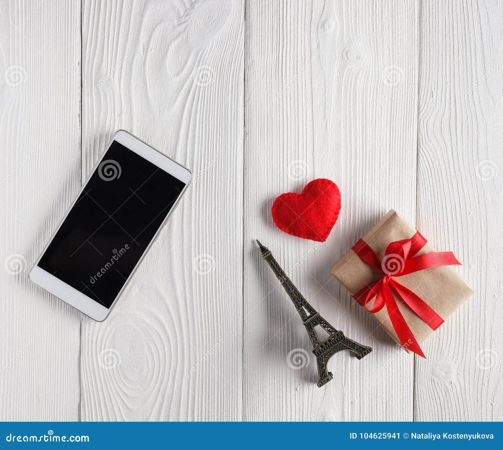 Download Smartphone En Giften Op Lijst Stock Illustratie - Illustratie bestaande uit technologie, rustic: 104625941