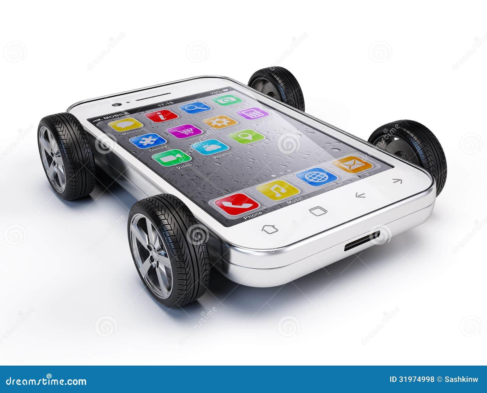 Smartphone en las ruedas