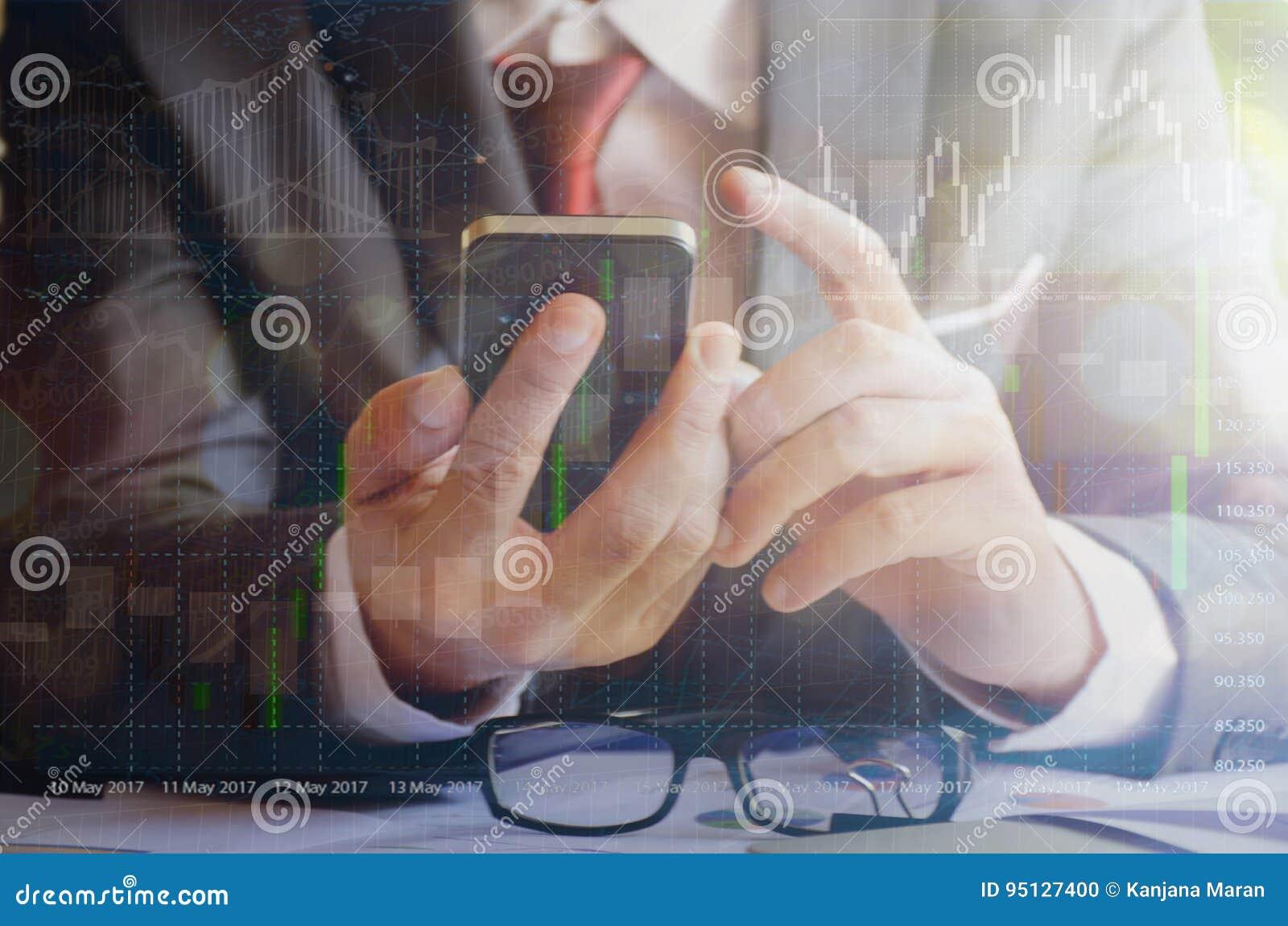 Smartphone för rörande skärm för affärsman