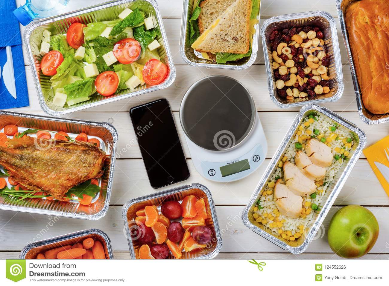 Lean fish and food scale