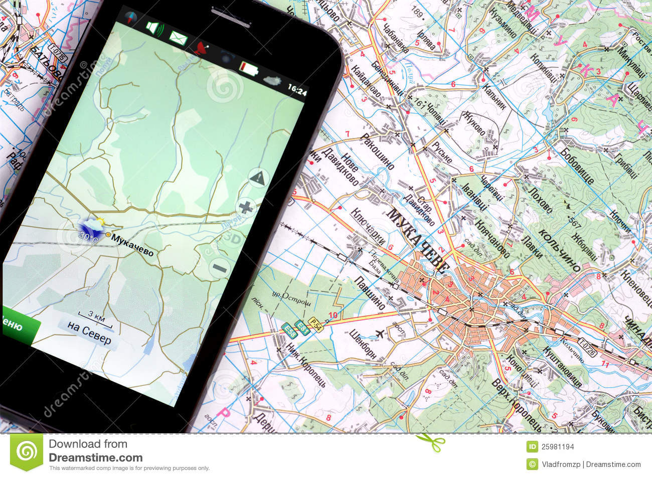 Smartphone With GPS And A Map Stock Photo - Image of call, electronics: 25981194