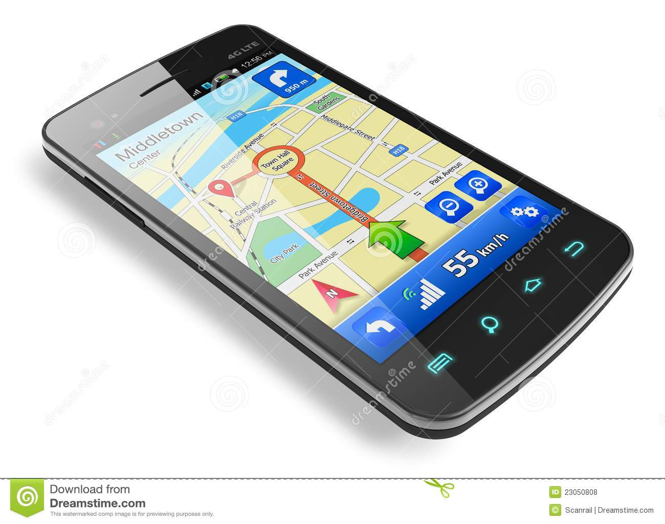 Smartphone With GPS Navigation Royalty Free Stock Photos ...