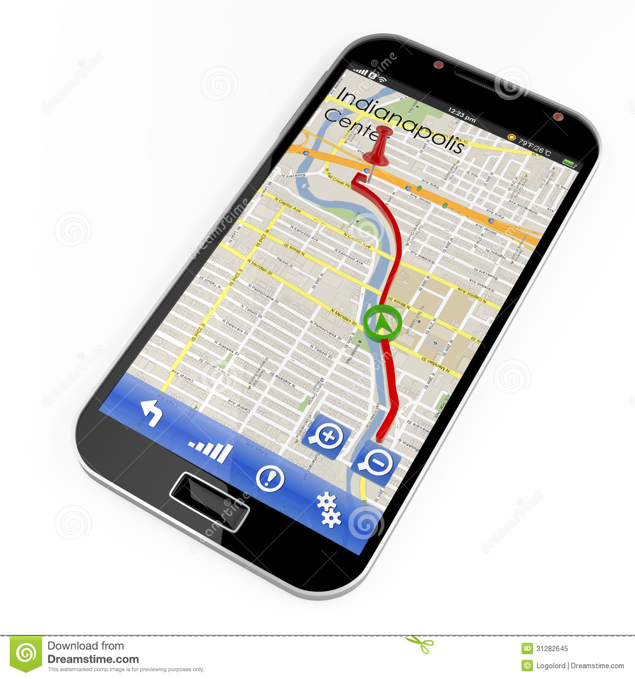 Smartphone With GPS Navigation Royalty Free Stock Photo ...