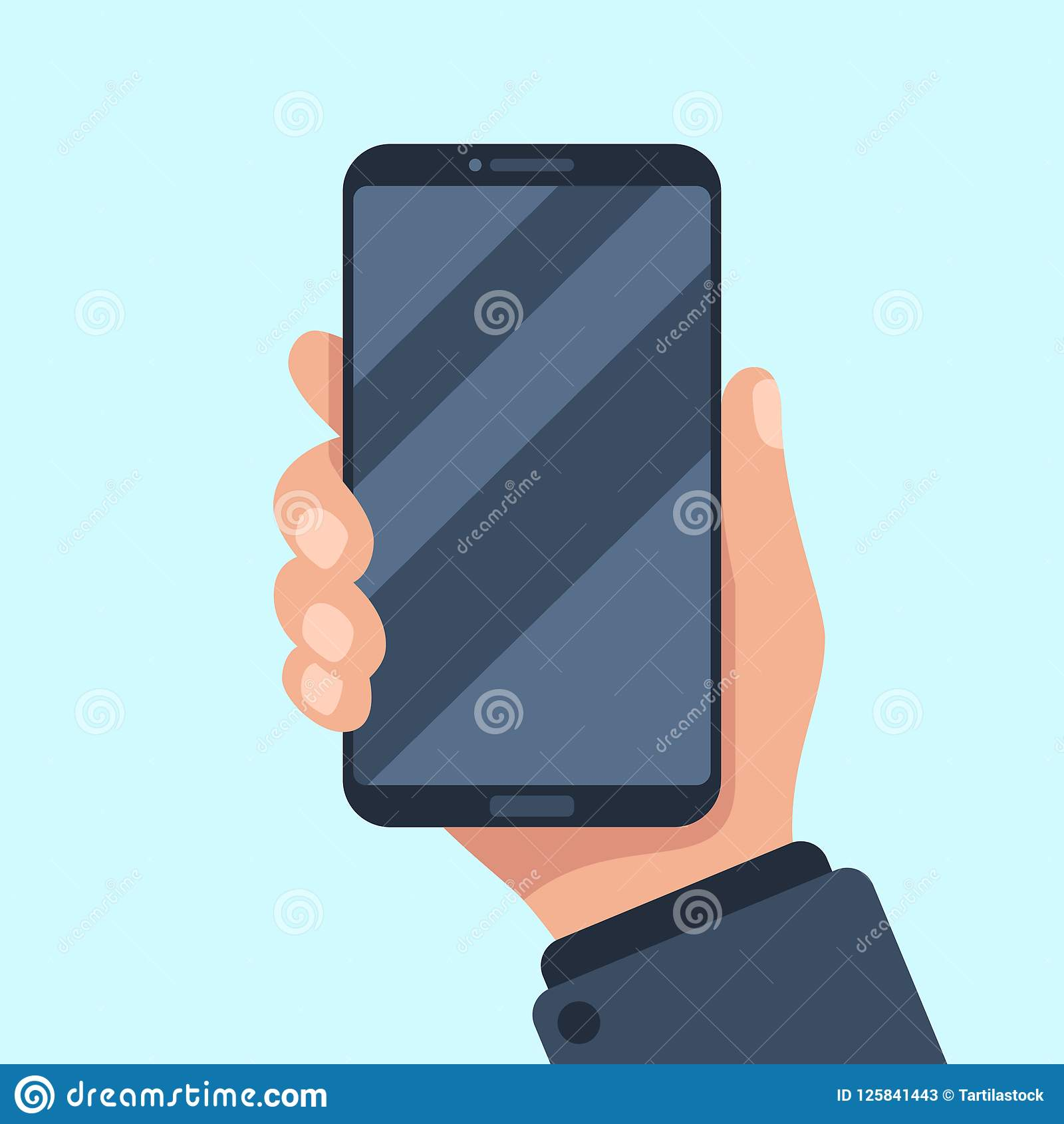 smartphone in hand mobile phone holding in businessman hands smart