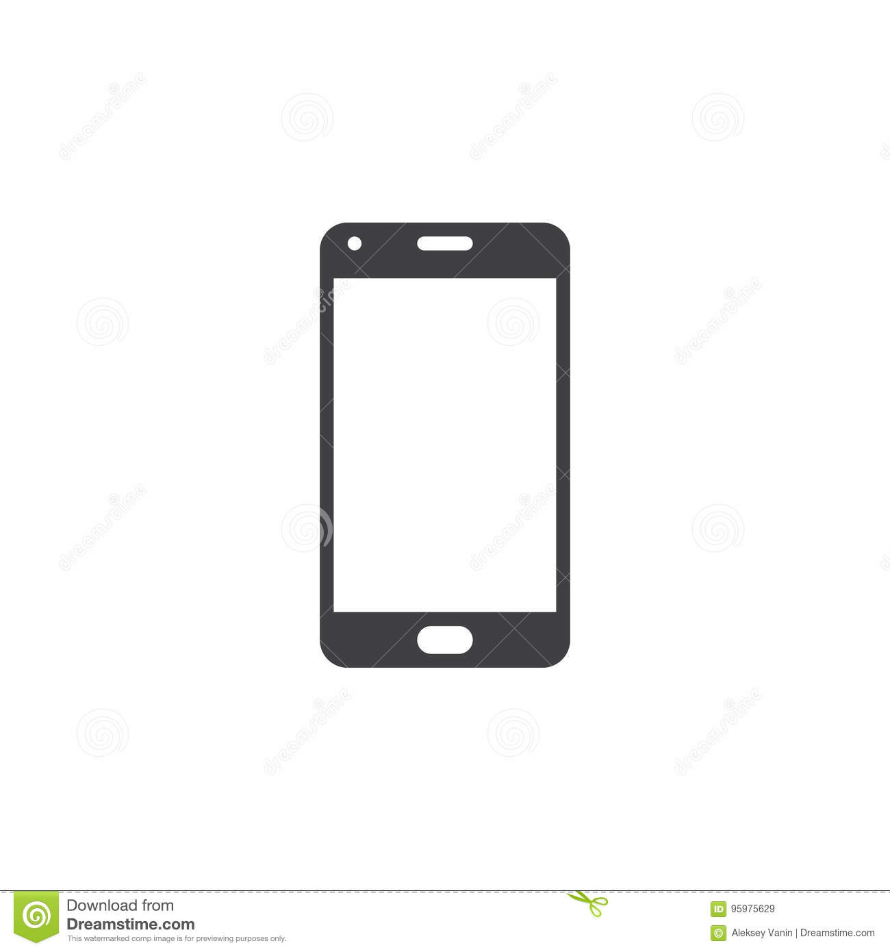 Smartphone icon vector mobile phone solid logo for Logo mobile