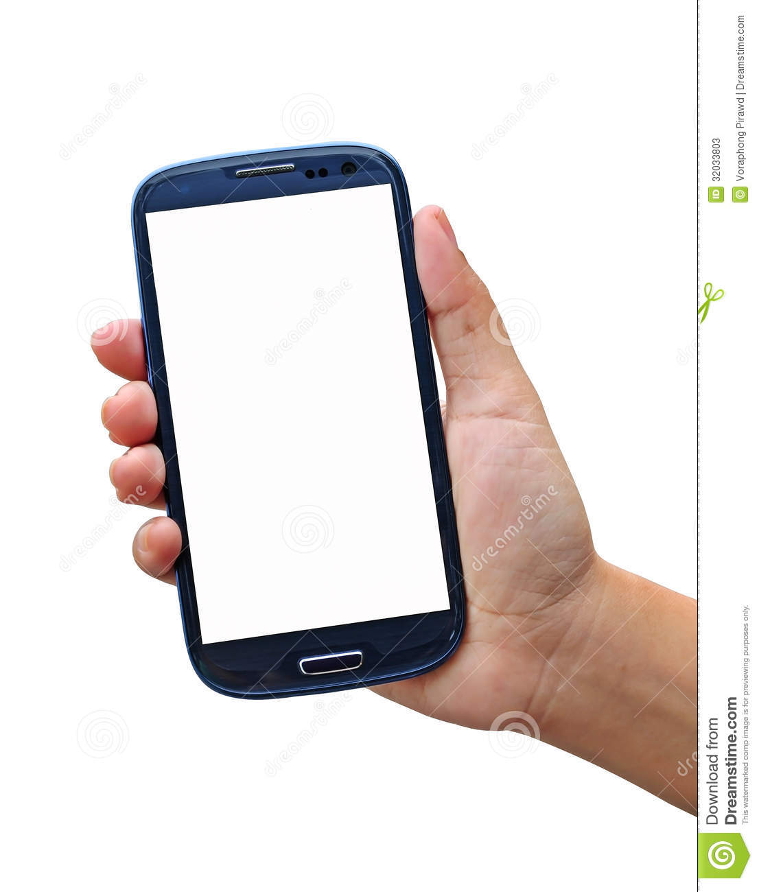 Smartphone Isolated On White Background Stock Photos ...