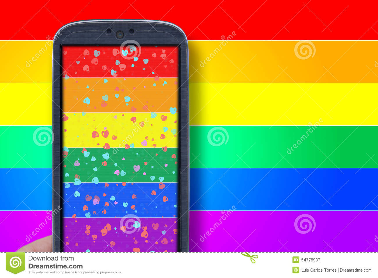 Smartphone LGBT theme stock image  Image of nobody, connection