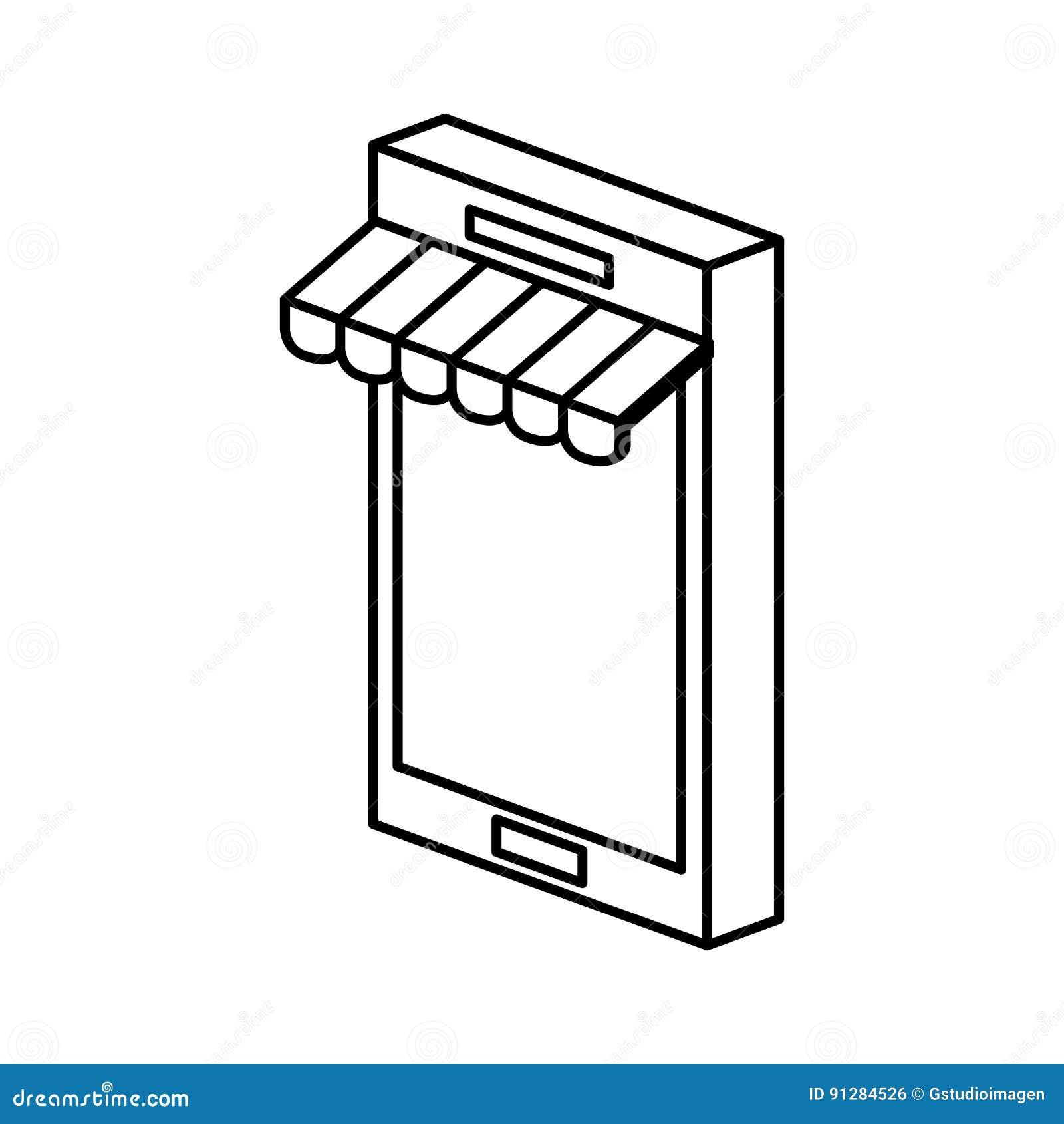 Smartphone med slags solskyddsymbolen