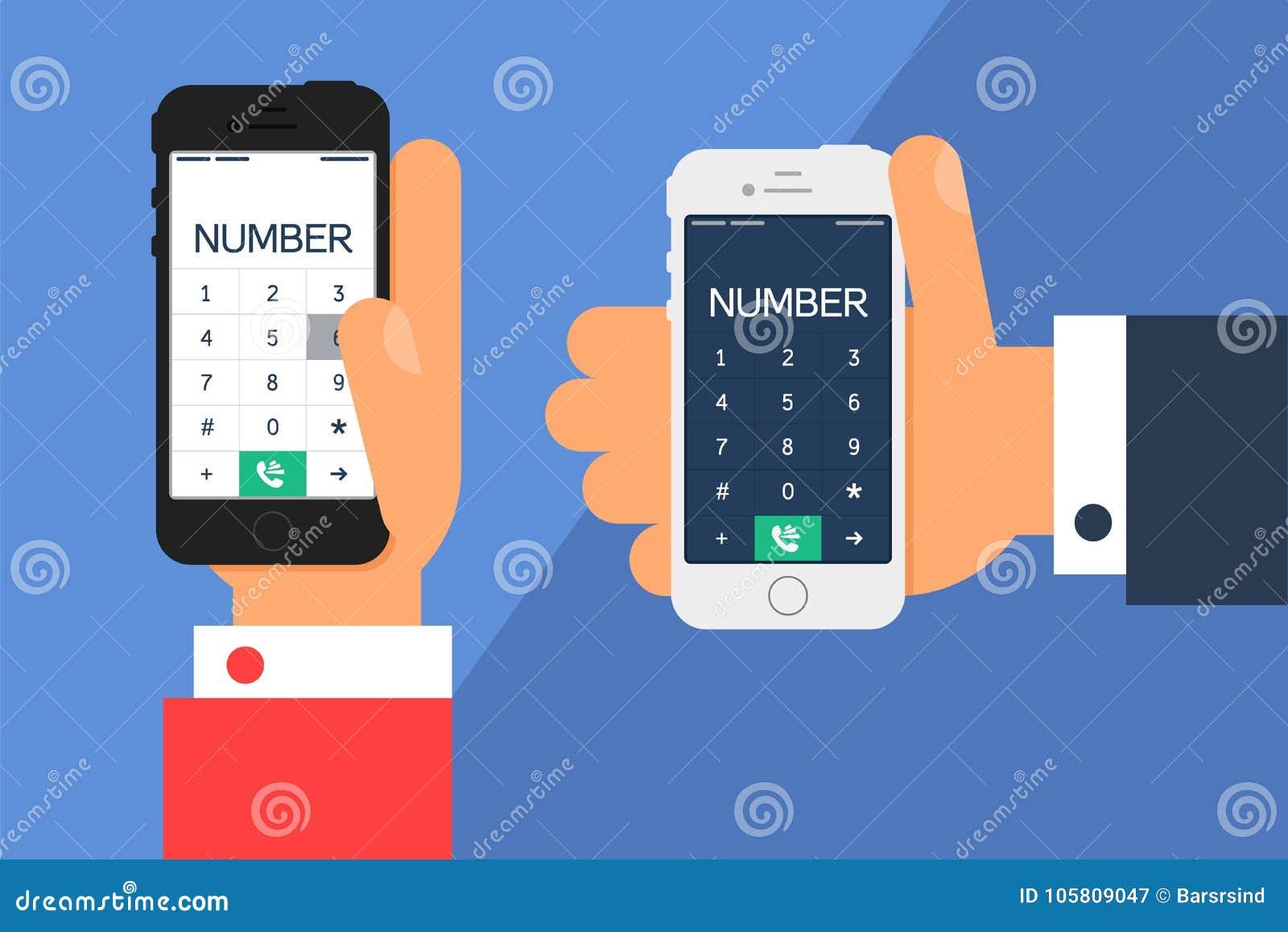 Smartphone met een wijzerplaat