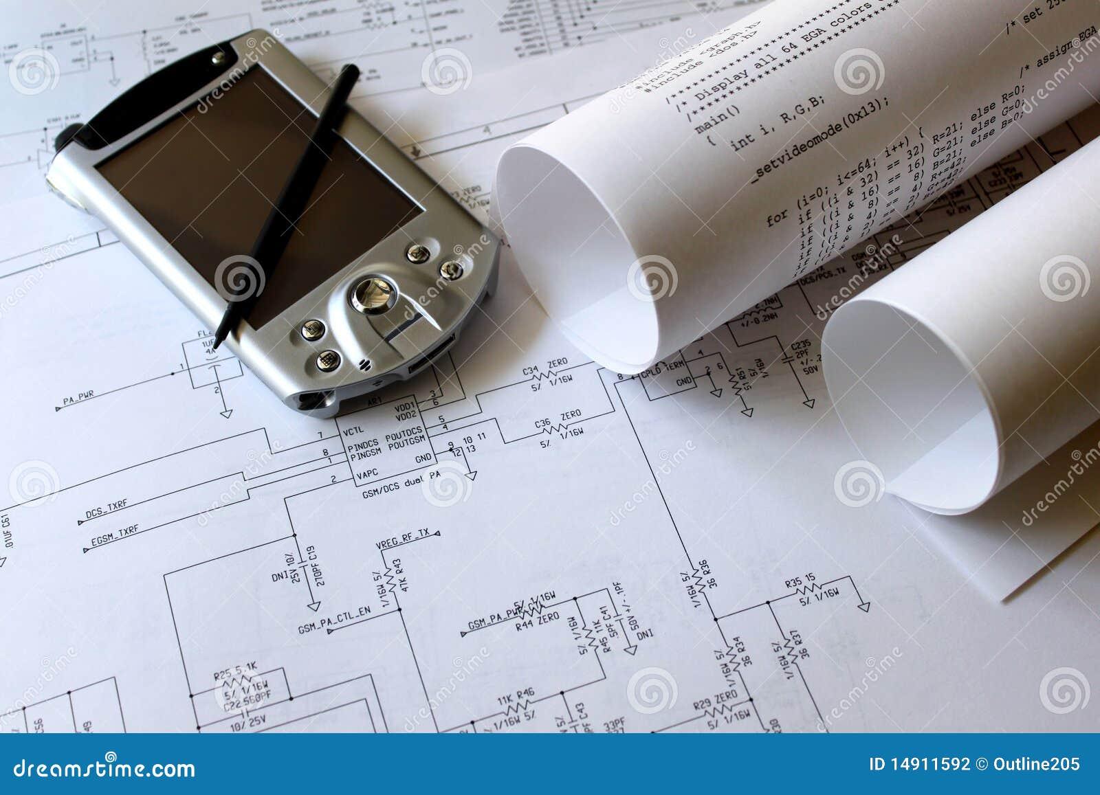Smartphone mit Schaltplan stockfoto. Bild von konzept - 14911592