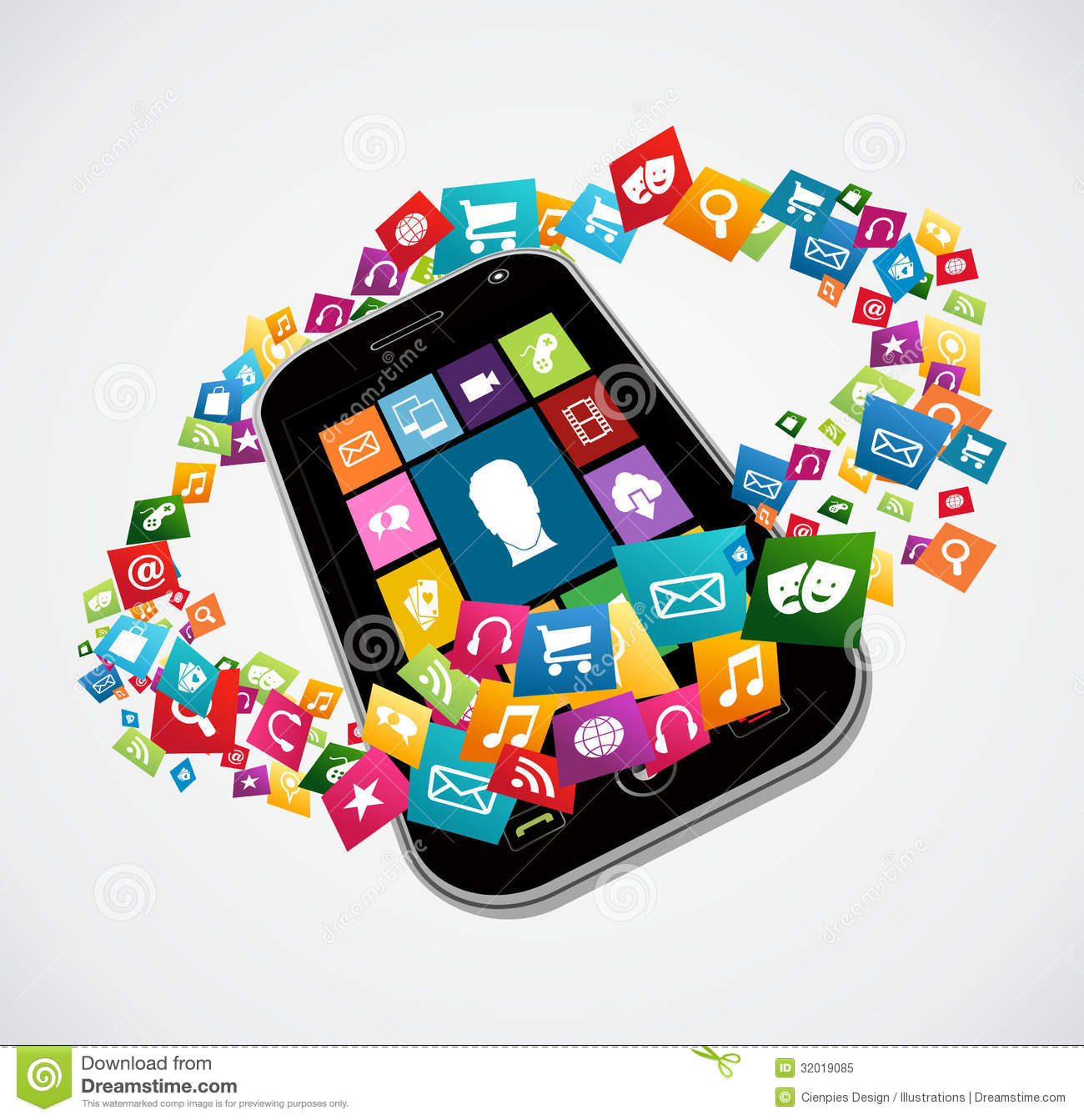 Smartphone Mobile Applications Stock Vector