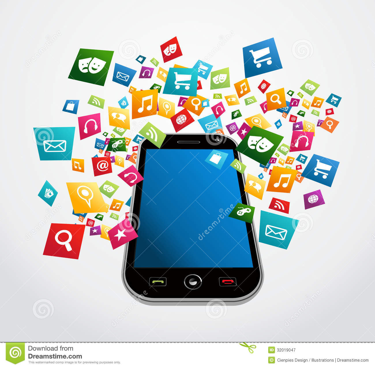 Smartphone Mobile Applications Royalty Free Stock