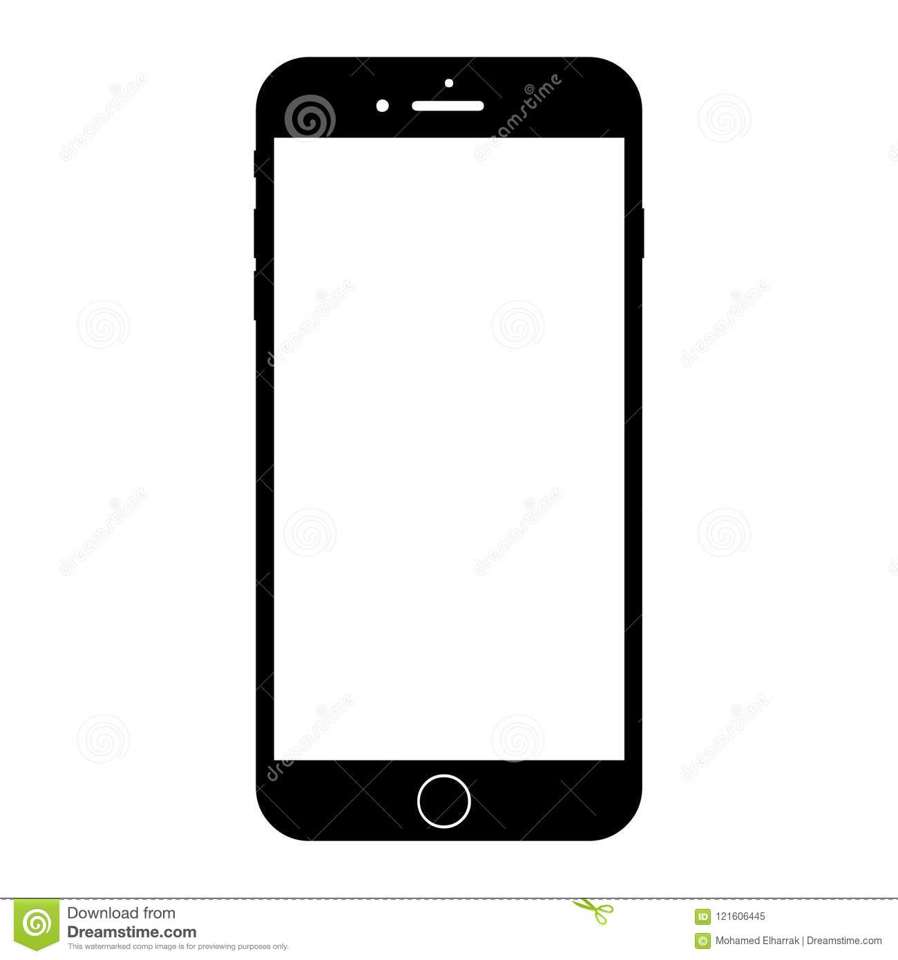 New modern white smartphone similar to iphone 8 plus