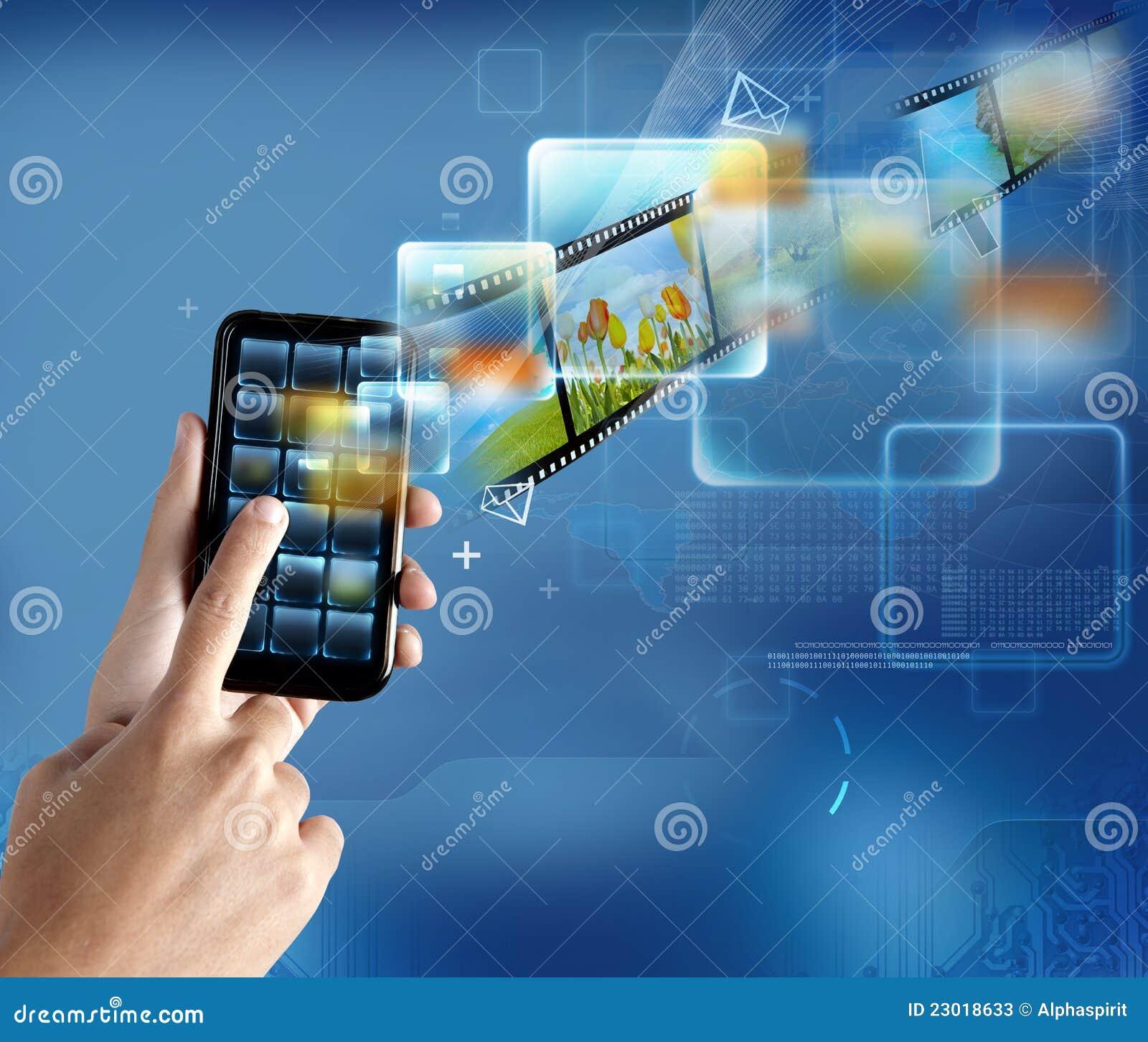 Smartphone moderno de la tecnología
