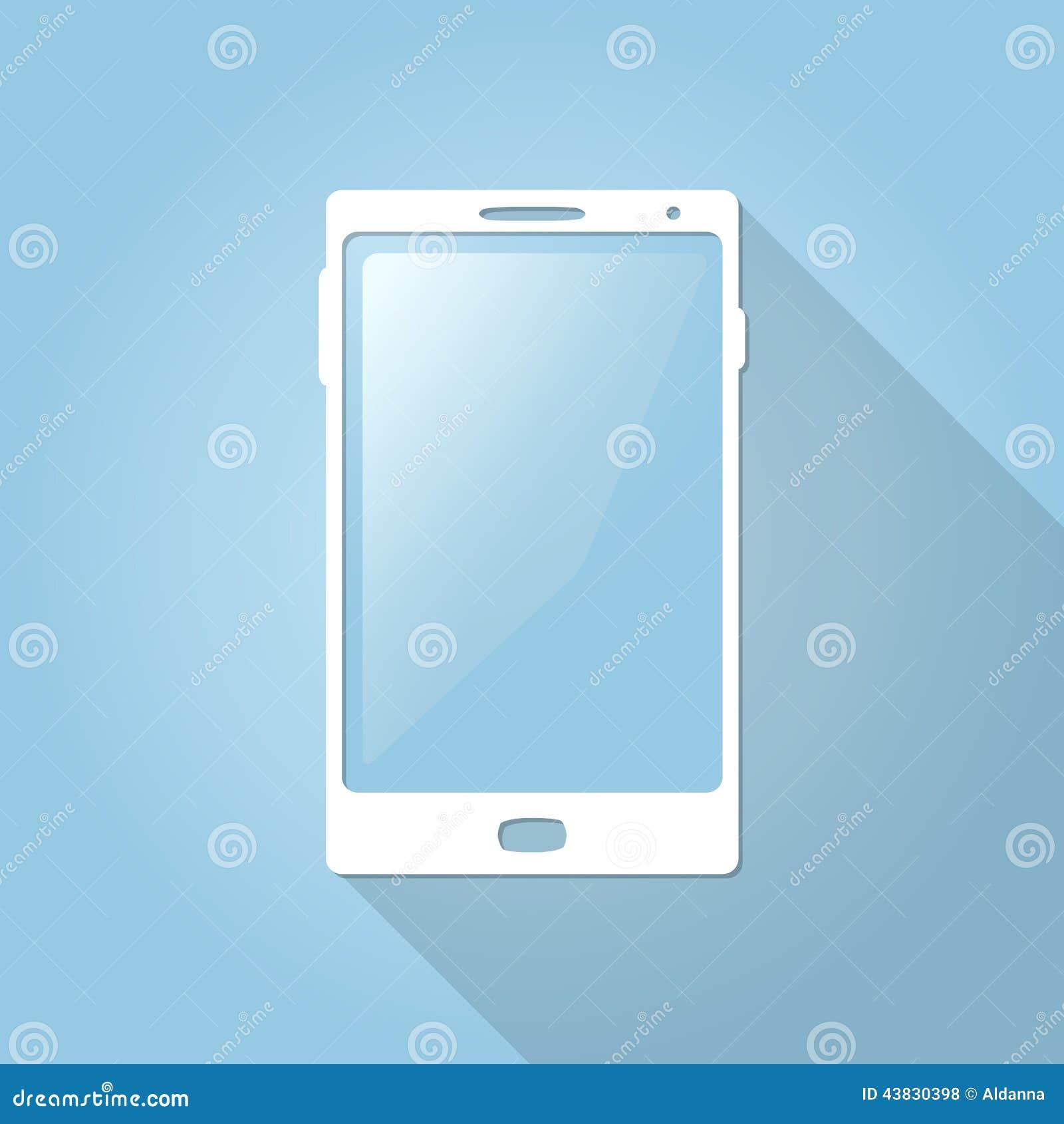 Smartphone plano del vector, teléfono, icono del teléfono móvil para el web y apps móviles