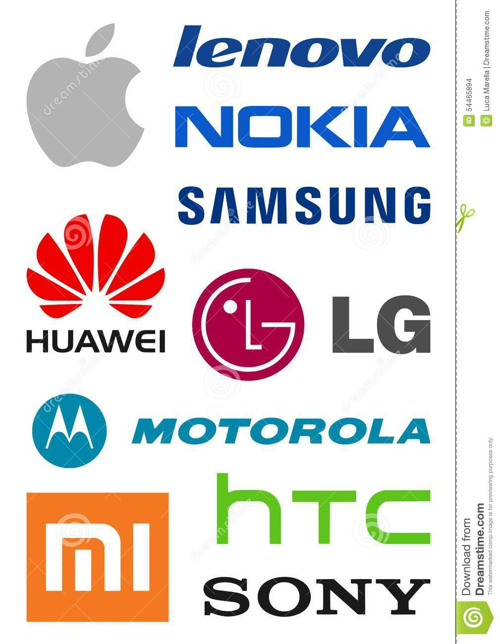 Smartphone Producers Logos Editorial Stock Image Image