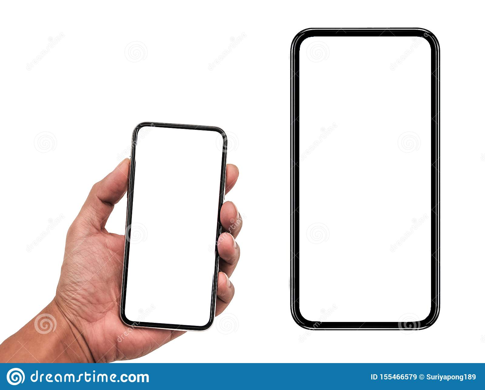 Smartphone Similar To Iphone Xs Max with Blank White Screen for ...