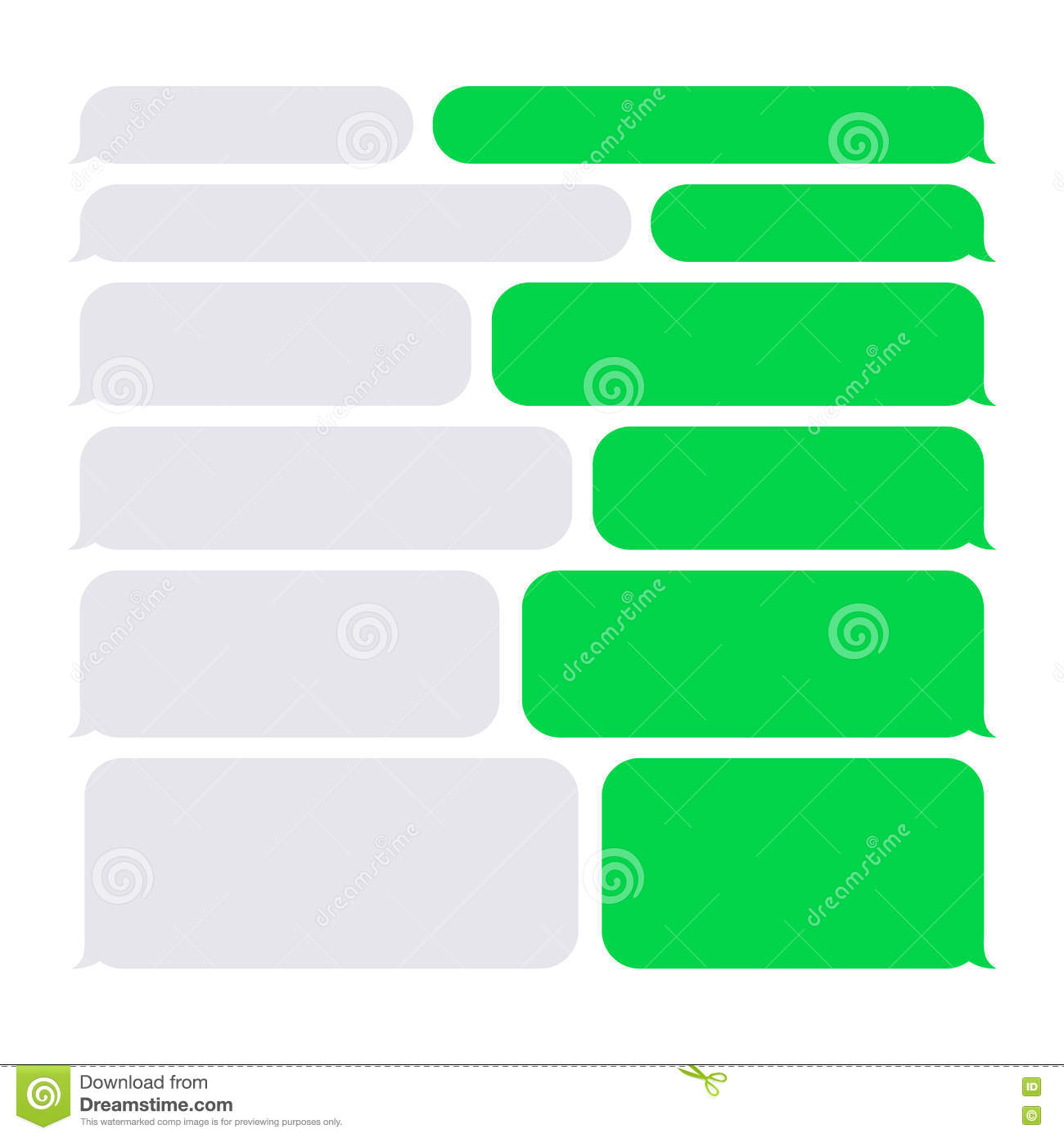 smartphone sms chat bubbles constructor set stock vector