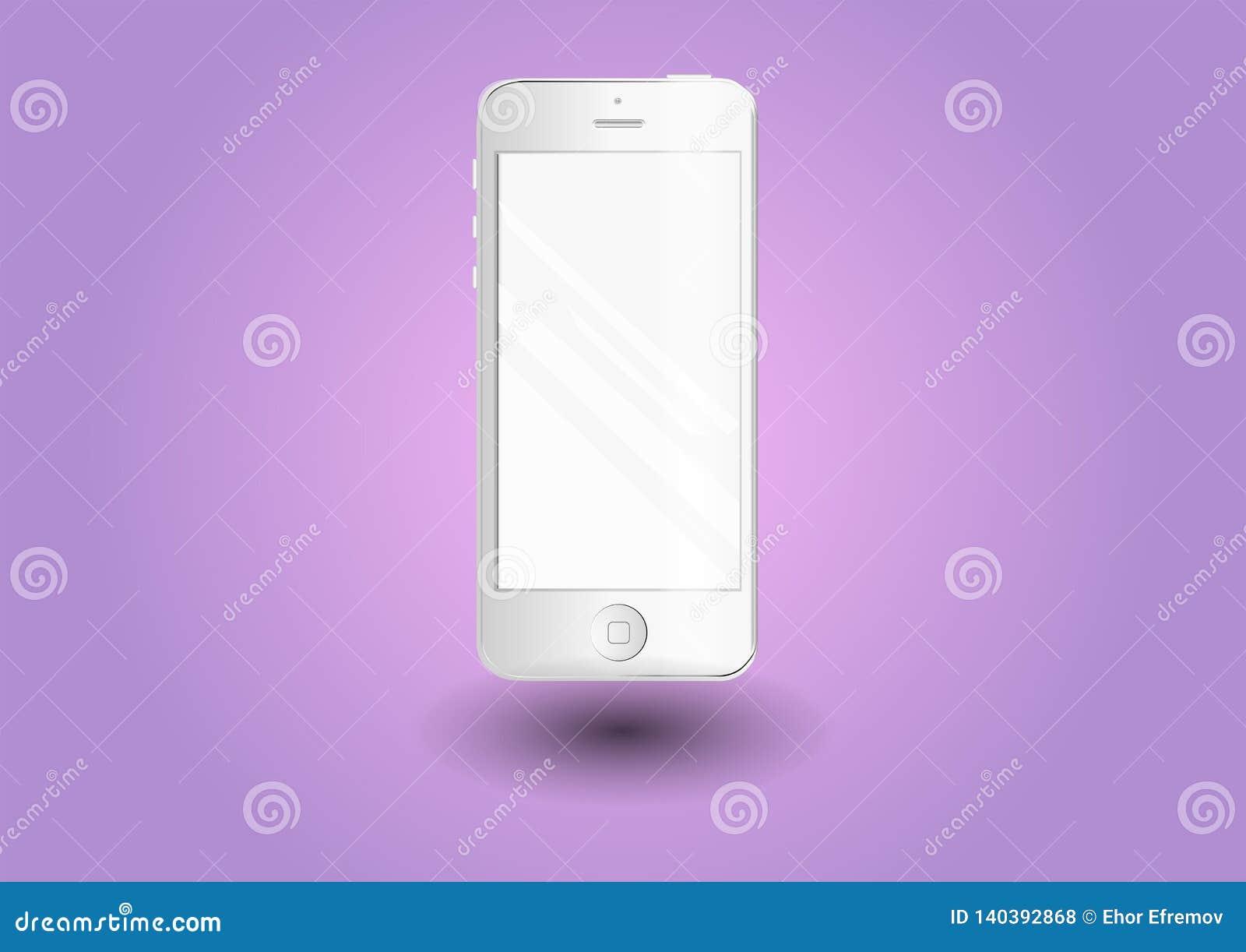 Smartphone Telefono bianco alla moda