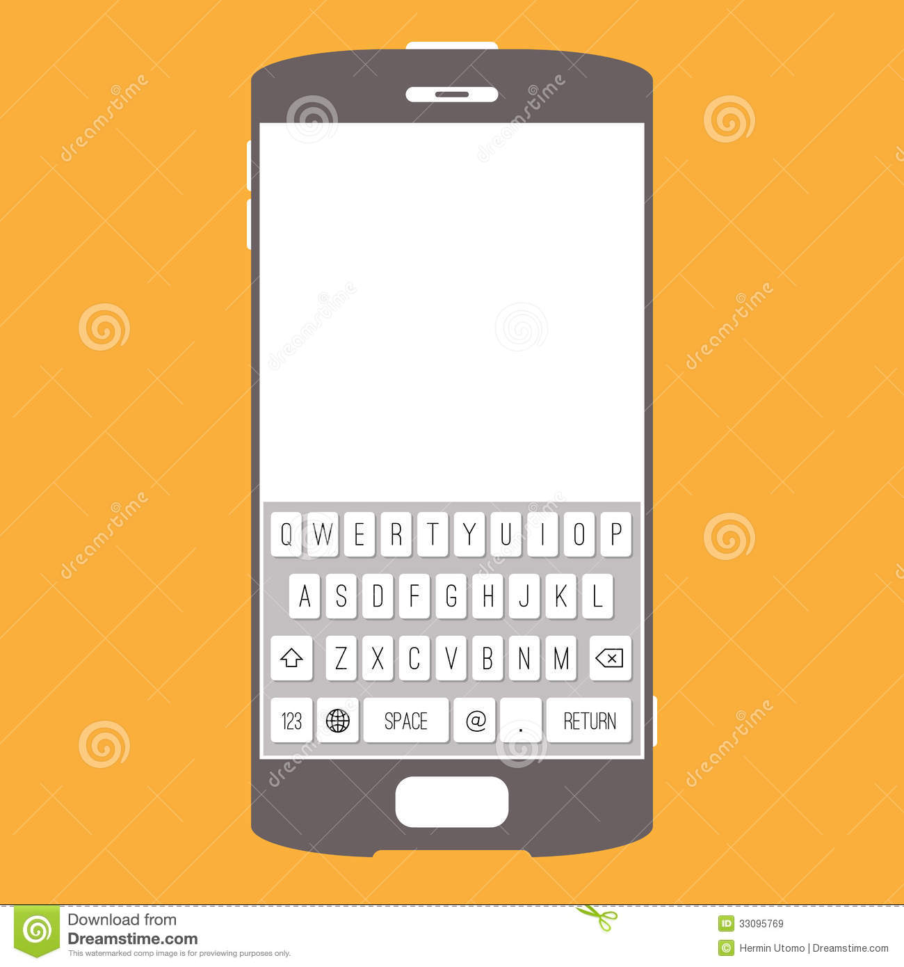 Kitchen Design Tools Smartphone Touchscreen Keypad Royalty Free Stock Images