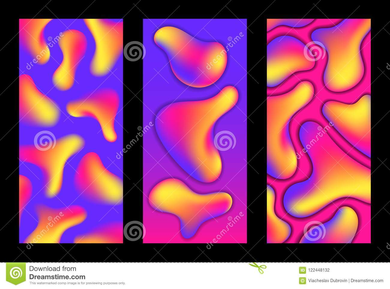 Smartphone Wallpapers With Gradient Shapes Neon Fluid