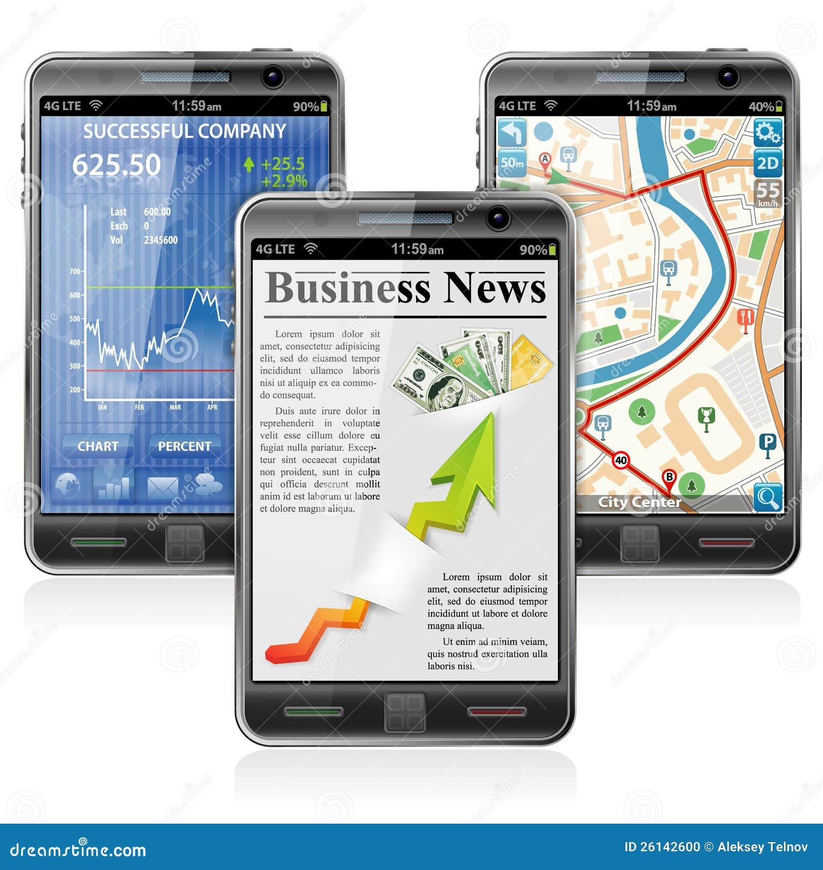 Smartphones с различными применениями
