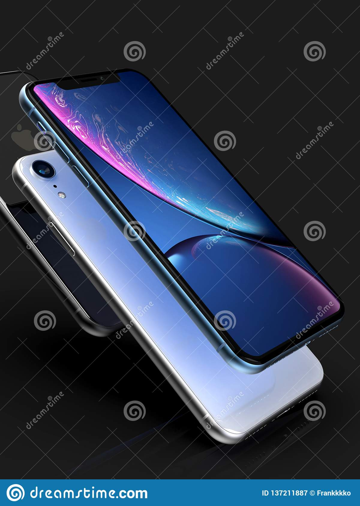 3 Iphone Xr Blue Silver And Space Grey Smart Phones On