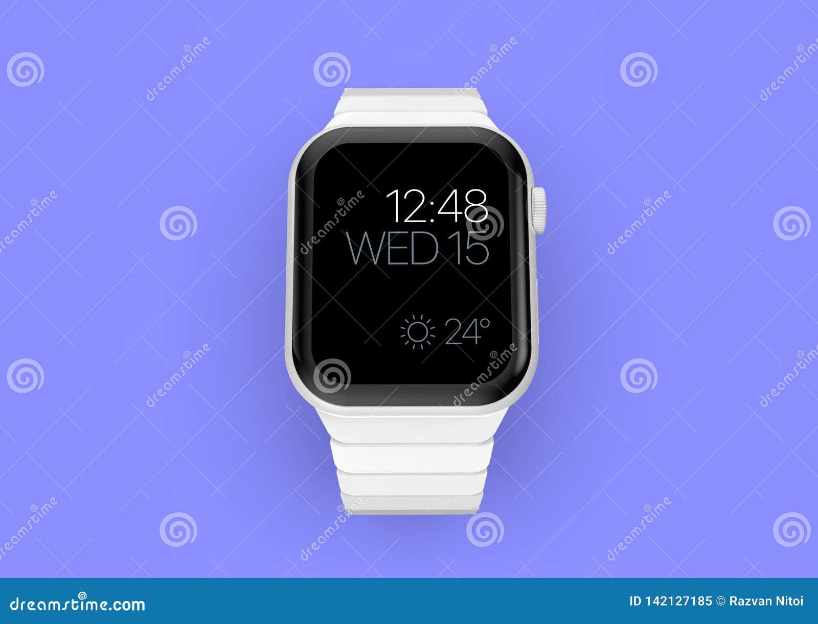 Smartwatch imaginário cerâmico branco do boato do relógio 4 de Apple, modelo