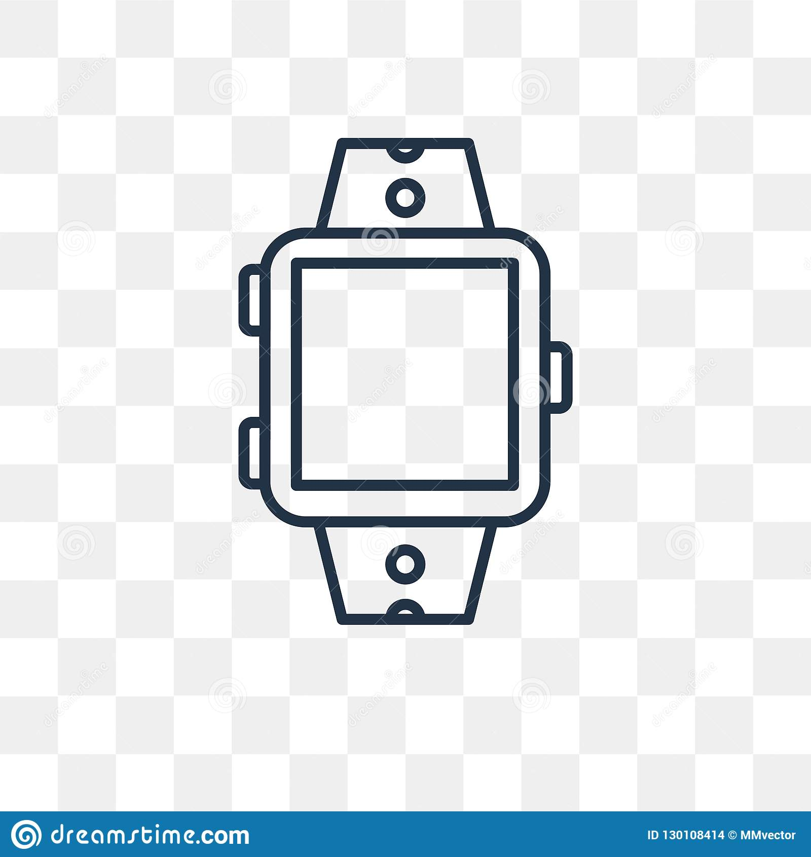 Smartwatch Vector Icon Isolated On Transparent Background