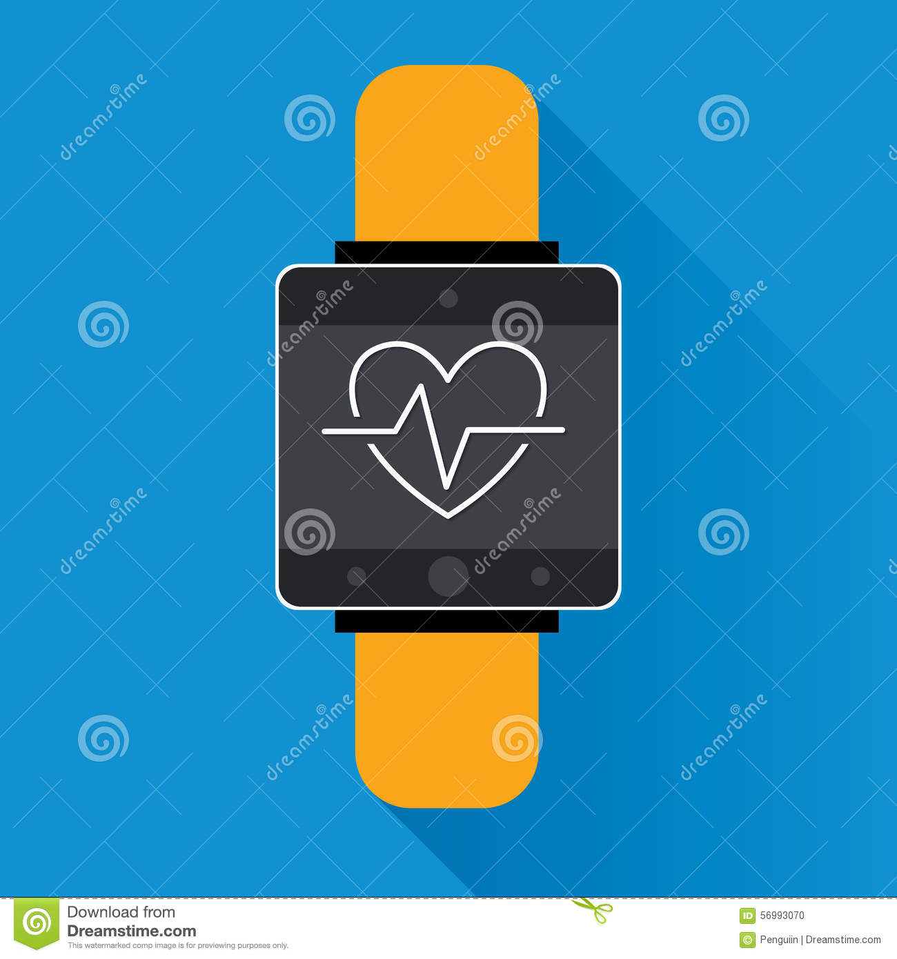 Smartwatch Wearable Technology Symbol With Icon For Fitness ...