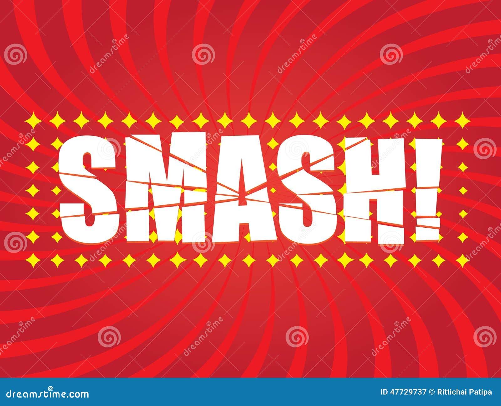 smash comic word stock vector illustration of background 47729737