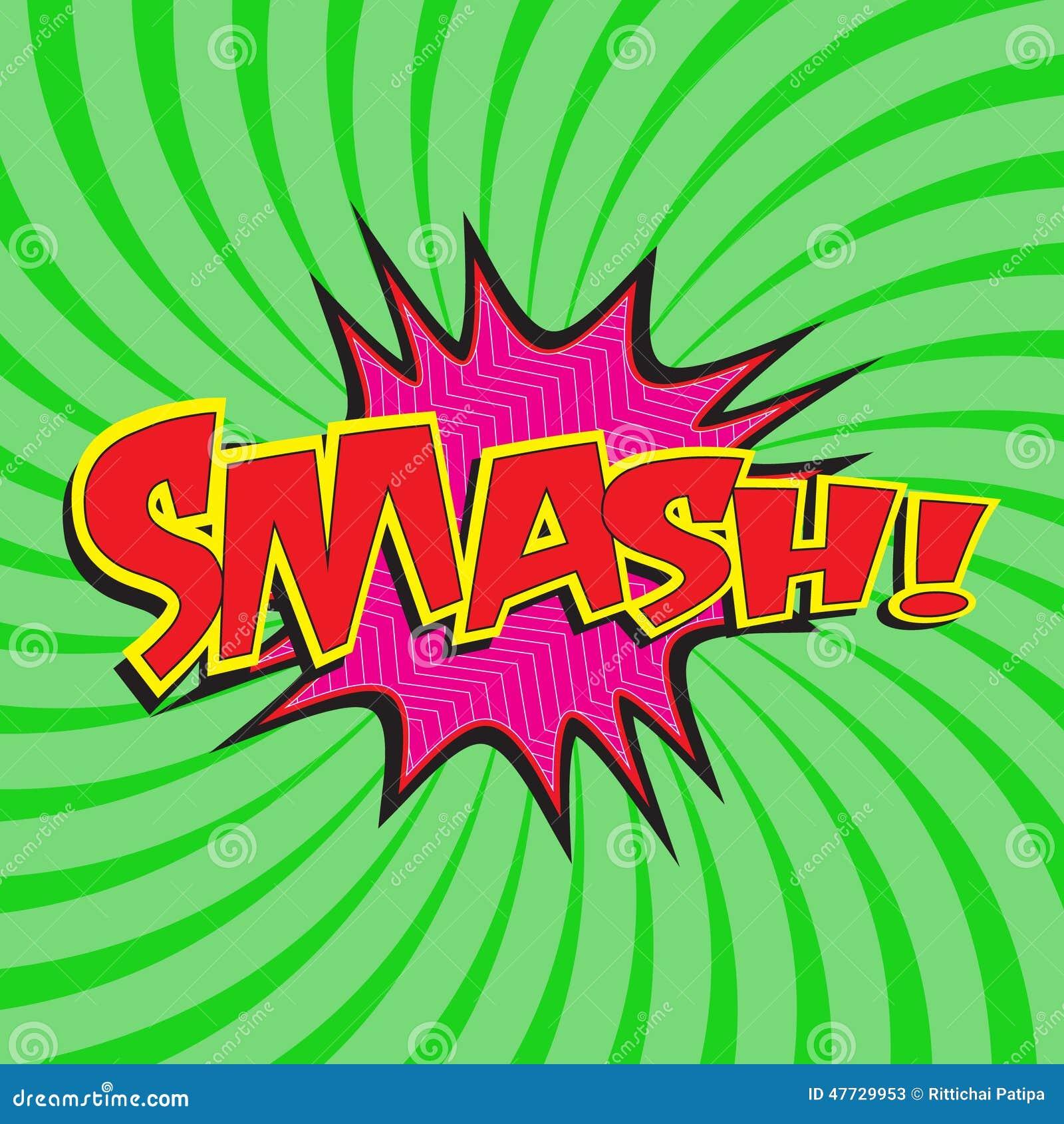 smash wording stock vector illustration of explosion 47729953