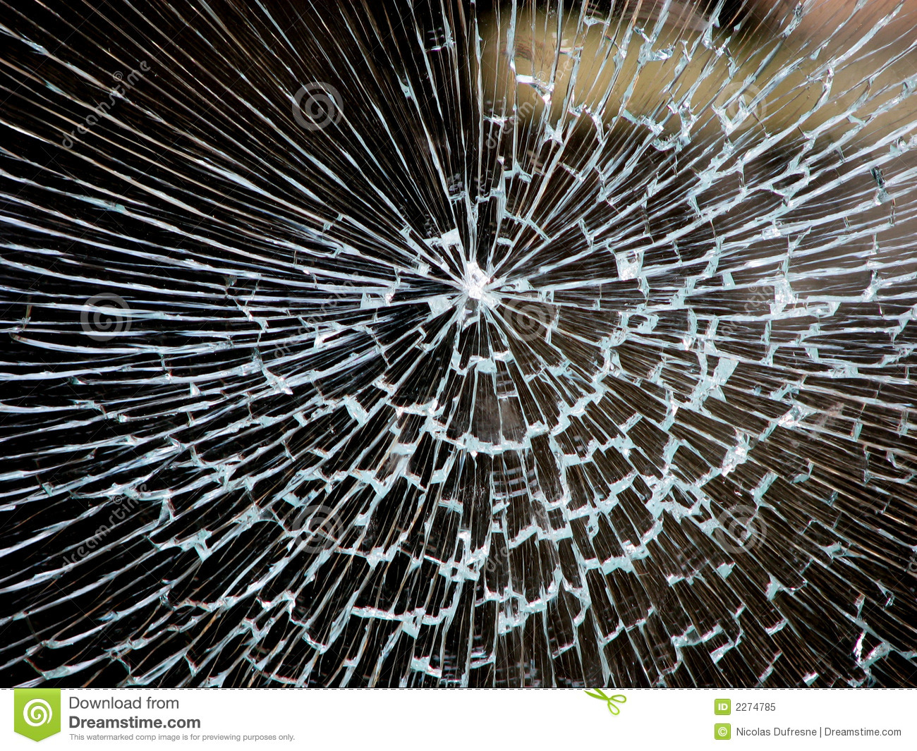 Smashed Window Royalty Free Stock Photo - Image: 2274785
