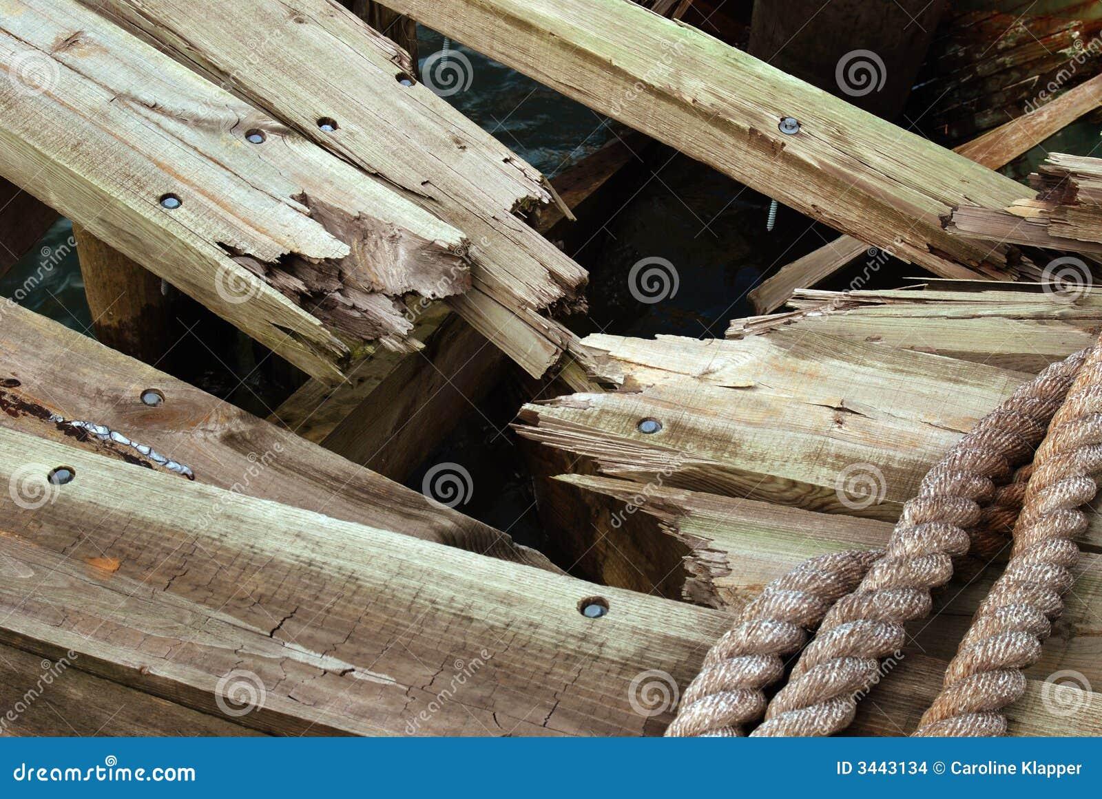 Smashed wood stock images image