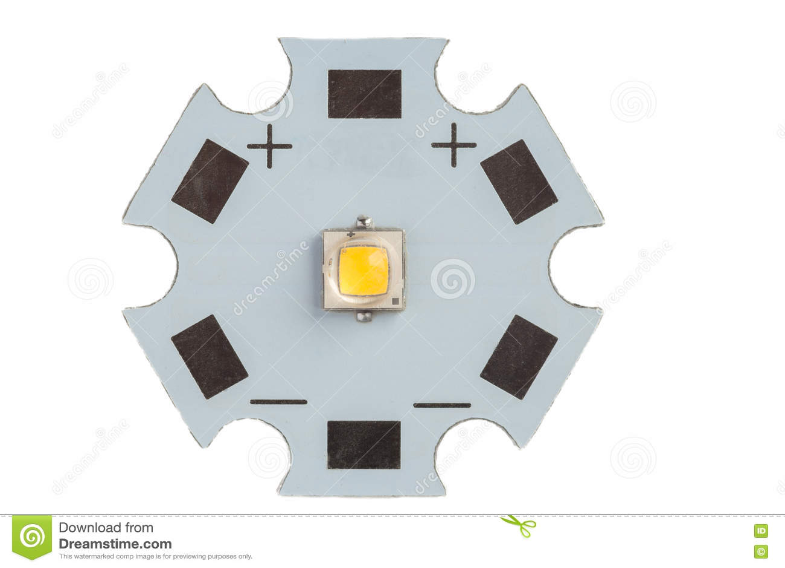 Circuito Led : Smd potente led en el circuito de aluminio de la estrella imagen de