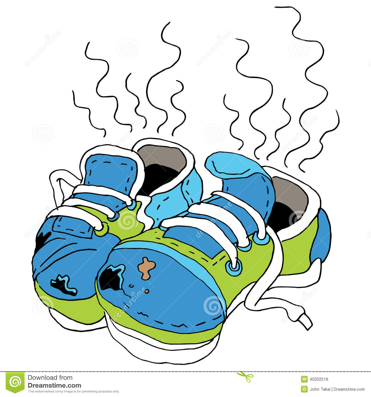 Smelly Old Shoes Stock Vector - Image: 40202519