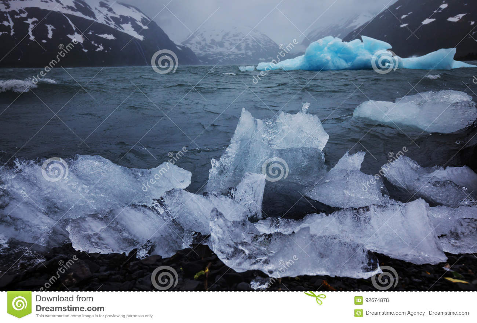 Smeltende Gletsjer in Alaska