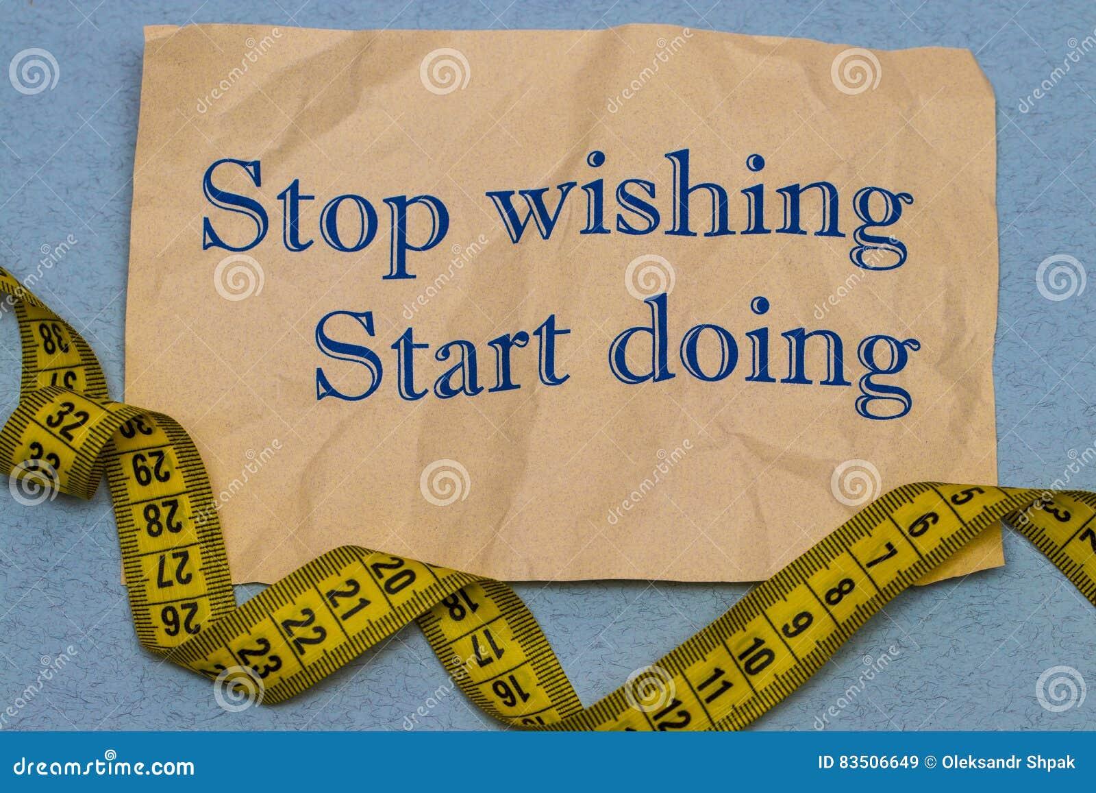 Smetta Di Desiderare Inizi A Fare Frase Motivazionale Su Uno